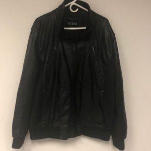 Men's Guess Leather Jacket Size-XL